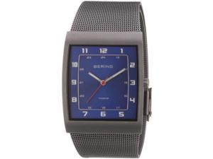 Bering Men's Classic Collection Grey Titanium Mesh Band Watch 11233-078
