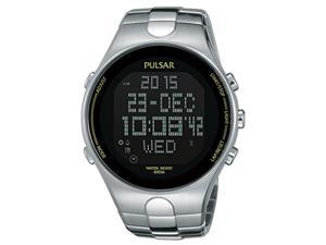 Pulsar Men's Digital Quartz 100m Stainless Steel Watch PQ2051
