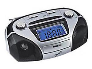 Supersonic High Performance 110V Portable USB/SD/Aux MP3 Silver Speaker SC1396
