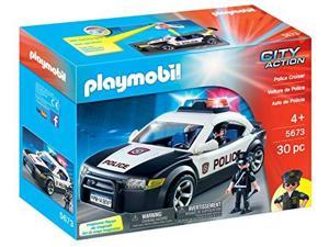Playmobil City Action Police Cruiser Playset 5673 (for Kids 4 and up)