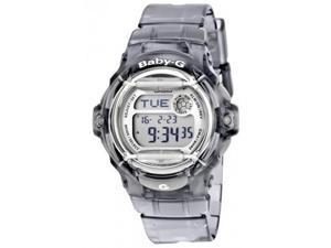 Casio Baby-G Digital Quartz 200m 25pg Databank Clear Black Resin Watch BG169R-8B