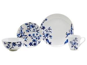 Oneida Tranquility Blue 16 Pc Porcelain Dinnerware Set (Service for 4) GF380X16RM