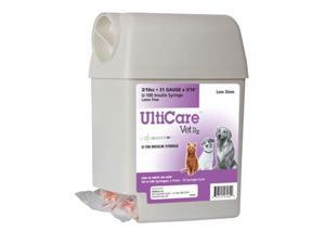 "UltiCare VetRx Insulin Syringe 3/10cc, 31g x 5/16"""", U-100, 50 Syringe"