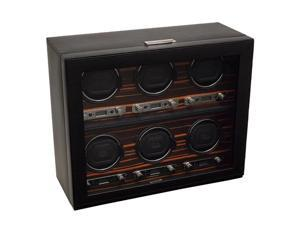 Wolf Designs Roadster 6 Module Watch Winder with Cover