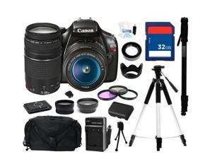 Canon EOS REBEL T3 Black 12.2 MP Digital SLR Camera with EF-S 18-55mm Lens and Canon Zoom Telephoto EF 75-300mm f/4.0-5.6 ...
