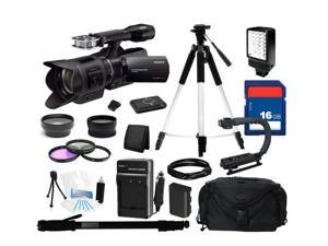 Sony NEX-VG30 Camcorder with 18-200mm f/3.5-6.3 Power Zoom Lens, Everything You Need Kit, NEX-VG30H
