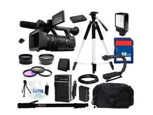 "SONY HXR-NX5U Black Exmor 3CMOS 3.2"" 921K LCD 20X Optical Zoom Digital HD Video Camera Recorder, Everything You Need Kit, HXR-NX5U"