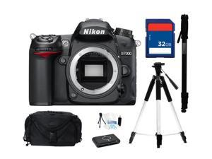 Nikon D7000 16.2MP DX-Format CMOS Digital SLR Camera - Body Only, Everything You Need Kit, 25468