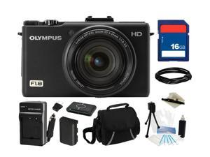 Olympus XZ-1 10 MP Digital Camera (Black) with f1.8 Lens and 3-Inch OLED Monitor, Everything You Need Kit, 228000