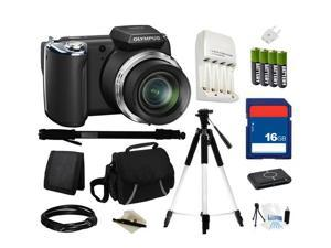 Olympus SP-620UZ Digital Camera, Everything You Need Kit, V103040BU000