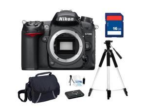 Nikon D7000 16.2MP DX-Format CMOS Digital SLR Camera - Body Only, Beginner's Bundle Kit, 25468