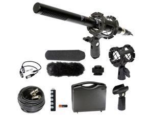 Digital SLR Camera Microphone Kit for Canon EOS Rebel M 1D C X 5D Mark II III 6D 7D 60D 60Da T1i T2i T3 T3i T4i T5i SL1