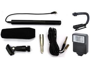 Professional Video DSLR Microphone Flash Grip for Canon EOS 70D Rebel T5i 100D SL1 5D Mark III 600D 1100D II Rebel 500D T1i Kiss X3 Rebel 650D T4i Kiss X6i T3i