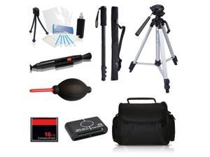 Professional Tripod Accessory Bundle Kit for Canon HF G30, HF G20 Camcorders
