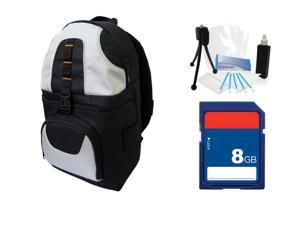 DSLR Camera Backpack Case Bag + 8GB SD Card for Canon EOS 7D 60D 5D 5D Mark 2