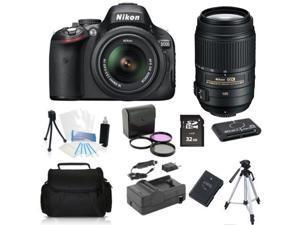 Nikon D5100 (Kit w/ VR 18-55mm Lens) + 55-300mm VR + (Holiday Bundle Kit)