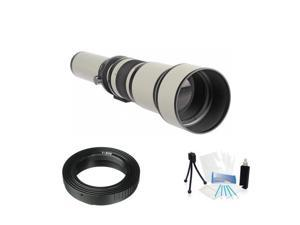 High Resolution Digital Zoom Lens 650-1300mm F8.0 for Canon 5D Mark II III 6D 7D