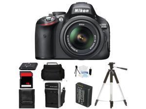Nikon D5100 Digital SLR Camera w/18-55mm Lens Body Beginner Birthday Bundle