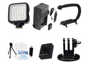 New Battery and Charger Accessories Mount Kit for GoPro Hero3 (White Edition)