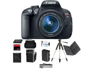 Canon Rebel T5i DSLR Camera w/ 18-55mm Beginner Mothers Day Bundle + Bonuses
