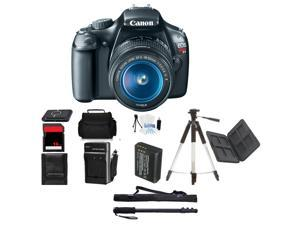 Canon EOS Rebel T3 Digital Camera w/ 18-55mm Beginner Mothers Day Bundle + Bonus