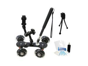 Professional Camcorder Skater Video Glider Dolly for Canon Vixia HF R500 R50