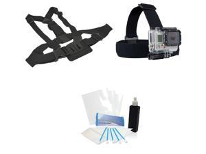 Professional Chest Harness + Head Strap Mount Kit for GoPro HD Hero 3+ Silver