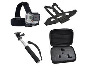 Harness Package with Essential Accessories for GoPro HD Hero 1, 2 Camcorders