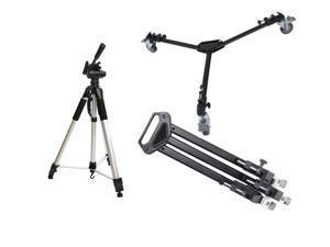 "Professional Tripod Dolly + 72"" Tripod Combo for Canon XF205 XF200 HF G20 Panasonic HC-V250 V550 V750"