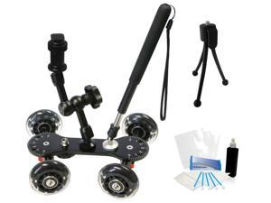 Professional Camcorder Skater Glider Video Dolly for Canon Vixia HFR300 HFM40 HFS11 HFS21 100MC 200MC