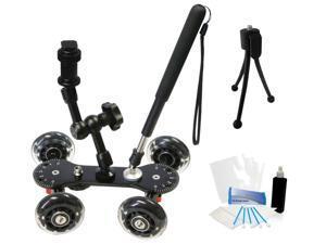 Professional Camcorder Video Skater Glider Dolly for Panasonic HC-X910 HC-V720 DCR-HC1000 DCR-HC20 DCR-HC21 NEX-VG900