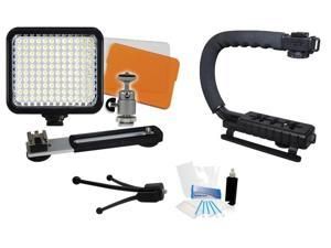 Video Camera Camcorder LED Light Grip Kit for Sony HDR-AX2000 HDR-CX130 FDR-AX100 FDR-AX1