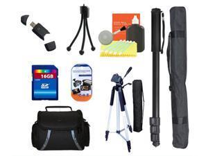 Camcorder Tripod Accessory Bundle Kit for Canon Powershot SX400 G7x Cameras
