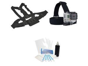 Professional Chest Harness + Head Strap Kit for GoPro Hero 4 Silver Edition