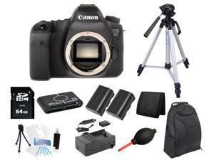 Canon 6D DSLR Camera Body + 64GB Tripod/Backpack Holiday Accessory Bundle Kit