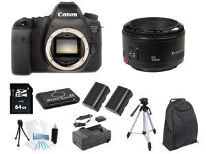 Canon 6D DSLR Camera Body + 50mm f/1.8 Lens + 64GB Tripod/Backpack Holiday Kit
