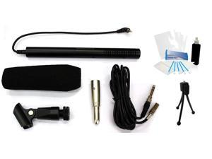 Professional Video Mic Microphone Kit for Canon Vixia HF G20 HD Camcorder