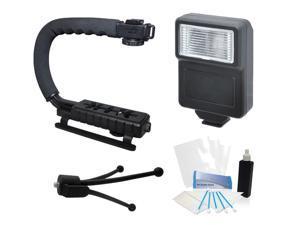 Camera Flash Grip Stabilizer Handle Accessories for Pentax K-5 II Digital Camera