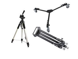 Professional Tripod Dolly+72 Inch Tripod Combo for Canon EOS Rebel T5 EF-S Cam
