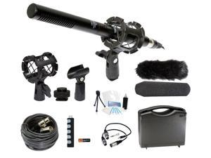 Microphone Broadcasting Accessories Kit for JVC GC-PX100 Camcorder