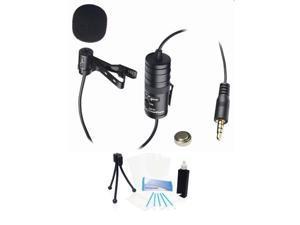 Pro Lavalier Mic Kit for Canon PowerShot SX600 SX280 SX170 Point & Shoot Cam