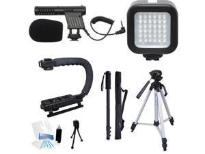 Beginner Filmmaker's Start-Up Kit For Canon Vixia G30 G20 R62 R60 R600 Camcorder