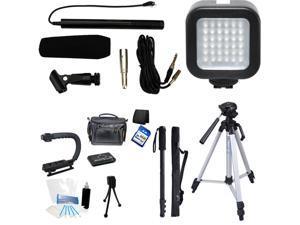 7-Piece Video & Mic Filmmaker Kit for Fujifilm XQ1 XQ2 X-S1 X-T1 X-T10