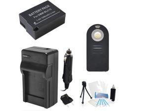 DMW-BLC12 Replacement Battery Kit with Charger and Universal Remote Control