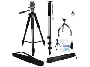 3 Piece Best Value Tripod Package for Canon Vixia G30 G20 R62 R60 R600