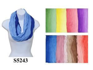 12 Pieces Wholesale Lot Women Infinity Gradient Solid Plain Color Block Chunk Circle Double Loop Scarf Wrap. S5243