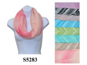 12 Pieces Wholesale Lot Women Infinity Polka Dot Pattern Block Chunk Circle Double Loop Scarf Wrap. S5283