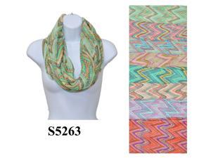 12 Pieces Wholesale Lot Women Infinity Chevron Zig Zag Color Block Chunk Circle Double Loop Scarf Wrap. S5263