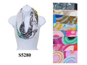 12 Pieces Wholesale Lot Women Lady Infinity Flower Fashion Scarf Color Block Chunk Circle Double Loop Wrap. S5280