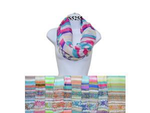 12 Pieces Wholesale Lot Women Lady Girls Infinity Color Block Chunk Circle Double Loop Scarf Wrap.
